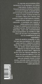 Les Vertus Du Mensonge - 4ème de couverture - Format classique