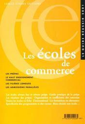 Les Ecoles De Commerce ; Edition 2001 - Intérieur - Format classique