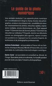 Guide de la photo numerique - 4ème de couverture - Format classique