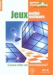 Les Jeux Mathematiques (Tgte Hs 20) - Intérieur - Format classique