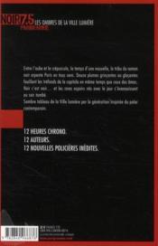 Paris jour ; 12 nouvelles inédites - 4ème de couverture - Format classique
