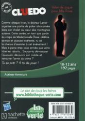 Cluedo T.10 ; valet de pique pour mademoiselle Rose - 4ème de couverture - Format classique
