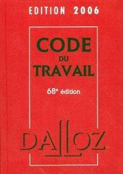 Code du travail (68e édition) - Intérieur - Format classique