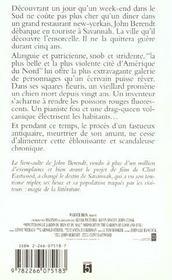 Minuit Dans Le Jardin Du Bien Et Du Mal - 4ème de couverture - Format classique