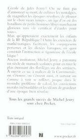 La Gloire Du Certif ; Les Tresors Des Livres D'Ecole, 1850-1950 - 4ème de couverture - Format classique