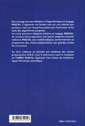 Le Turbo Pascal En Prepa Hec - 4ème de couverture - Format classique