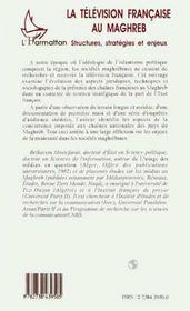 La Television Francaise Au Maghreb - 4ème de couverture - Format classique