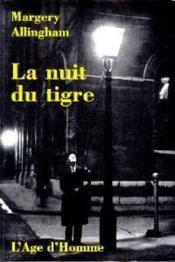 La nuit du tigre - Couverture - Format classique