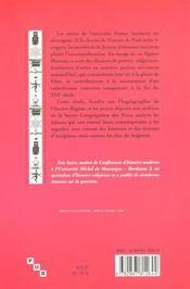 La Saintete Francaise De La Reforme Catholique, 16e-18e Siecles, D'Ap Res Les Textes Hagiographiques - 4ème de couverture - Format classique