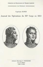 Journal des opérations du IIIe corps en 1813 - Couverture - Format classique
