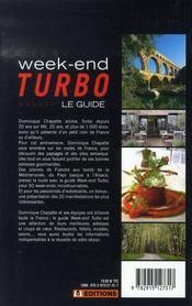 Week-end turbo ; le guide - 4ème de couverture - Format classique