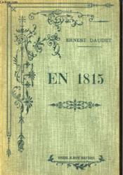 En 1815. Recits D'Une Grand'Mere - Couverture - Format classique
