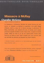 Massacre A Mcray - 4ème de couverture - Format classique