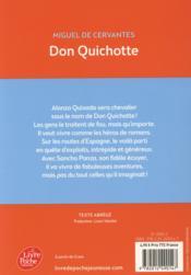 Don Quichotte - 4ème de couverture - Format classique