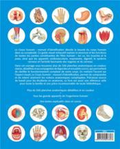 Le corps humain ; manuel d'identification ; 500 planches d'anatomie - 4ème de couverture - Format classique
