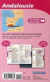 Voyager Pratique ; Andalousie - 4ème de couverture - Format classique