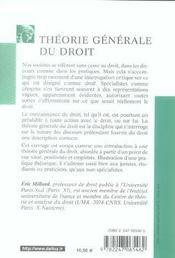 Théorie générale du droit - 4ème de couverture - Format classique