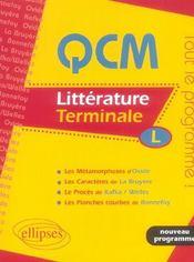 Littérature ; terminale L ; bac 2006 - Intérieur - Format classique