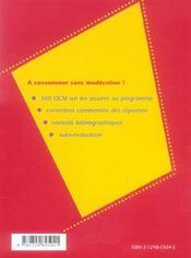 Littérature ; terminale L ; bac 2006 - 4ème de couverture - Format classique