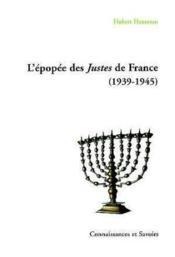 L'Epopee Des Justes De France (1939-1945) - Couverture - Format classique