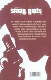 Small gods t.1 ; la main du mort - 4ème de couverture - Format classique