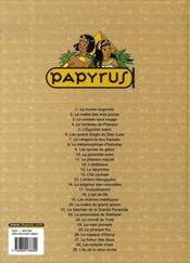 Papyrus t.29 ; l'île de la reine morte - 4ème de couverture - Format classique