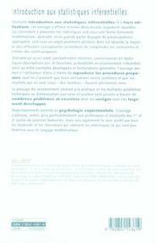 Introduction aux statistiques inférentielles - 4ème de couverture - Format classique