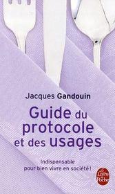 Guide du protocole et des usages - Intérieur - Format classique