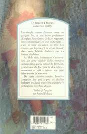Les ombres sur la peau - 4ème de couverture - Format classique