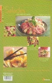 Salades pour toutes les saisons - 4ème de couverture - Format classique