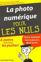 La Photo Numerique Pour Les Nuls - Intérieur - Format classique