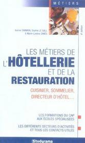 Les metiers de l'hotellerie et de la restauration - Intérieur - Format classique