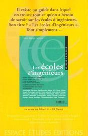 Guide Des Relations Enseignement Professions Edition 2001 - 4ème de couverture - Format classique