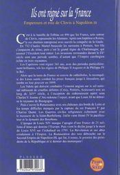 Ils Ont Regne Sur La France - 4ème de couverture - Format classique