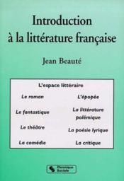 Introduction a la litterature francaise - Couverture - Format classique