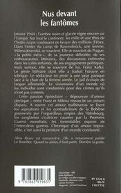 Nus devant les fantomes - 4ème de couverture - Format classique