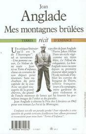 Mes Montagnes Brulees - 4ème de couverture - Format classique