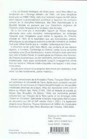 Marc bloch et l'angleterre - 4ème de couverture - Format classique