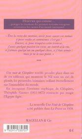 Cléopâtre - 4ème de couverture - Format classique
