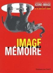 Icône-image t.3 ; image et mémoire - Couverture - Format classique