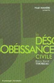 La désobéissance civile - Intérieur - Format classique
