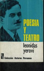 Poesia Y Teatro - Couverture - Format classique