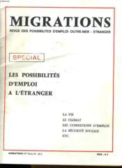 Migrations N°68-S - Revue Des Possibilites D'Emploi Outre-Mer - Etranger - Couverture - Format classique