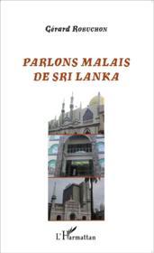 Parlons malais de Sri Lanka - Couverture - Format classique
