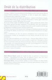 Droit de la distribution - 4ème de couverture - Format classique