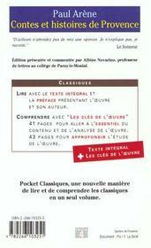 Contes Et Histoires De Provence - 4ème de couverture - Format classique