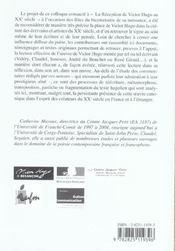 La Reception De Victor Hugo Au Xx Siecle - 4ème de couverture - Format classique