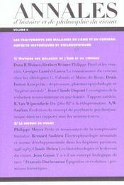 Les Annales D'Histoire Et De Philosophie Du Vivant, N 6, Les Maladies De L'Ame Et Du Cerveau - Intérieur - Format classique