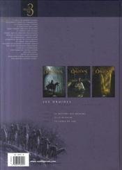 Les druides ; INTEGRALE T.1 A T.3 - 4ème de couverture - Format classique