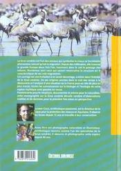La grue cendrée ; histoire naturelle d'un grand migrateur - 4ème de couverture - Format classique